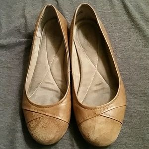 Real leather flat